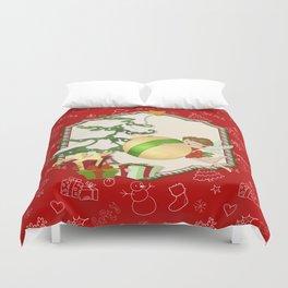 Fairy Merry Christmas Duvet Cover