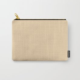 Neutral Bright Beige - Tan - Khaki Solid Color Parable to Pantone Cornhusk 12-0714 Carry-All Pouch
