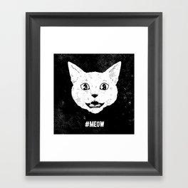 #MEOW Framed Art Print