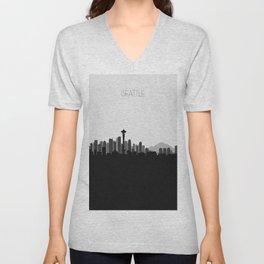 City Skylines: Seattle (Alternative) Unisex V-Neck