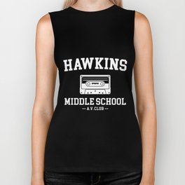 hawkins middle school a.v clup camera Biker Tank