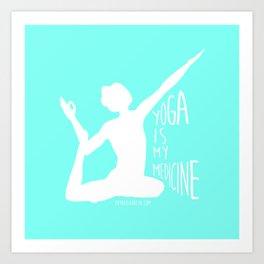 Lovin' Yoga II Art Print