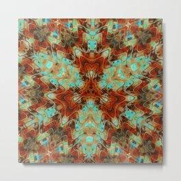 Scifi Rustic Geometric Metal Print