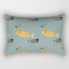 Koi Blue Rectangular Pillow