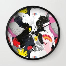 Cockatoo Fest Wall Clock