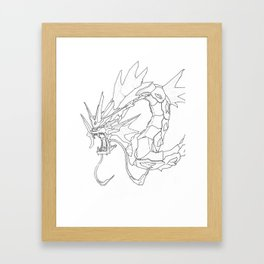 Mechanical Gyarados Framed Art Print