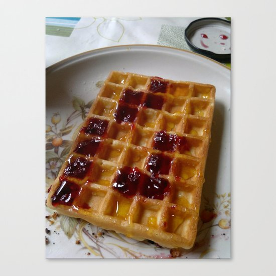 Waffles & Tetrimino Jam Canvas Print