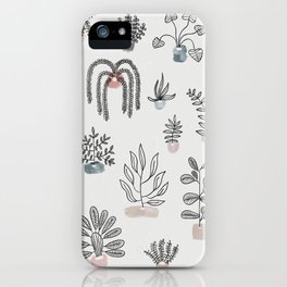 Home is where the plants are iPhone Case