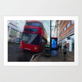 Across the Grooves: London Art Print
