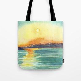 Cresent Bay Sunset Tote Bag