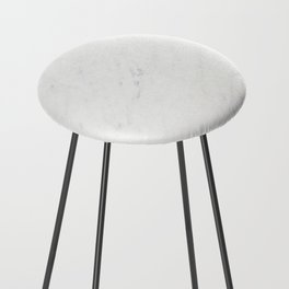 White Marble Counter Stool