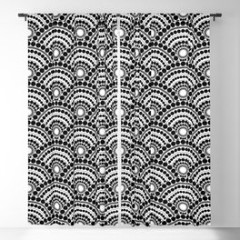 BLACK AND WHITE GEOMETRIC (abstract) Blackout Curtain