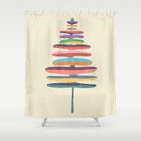 fern Shower Curtains featuring Joy Fern by Picomodi