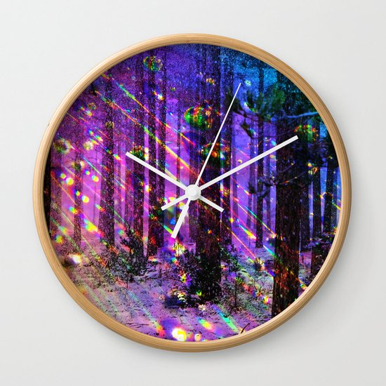 Christmas lights wall clock by haroulita society