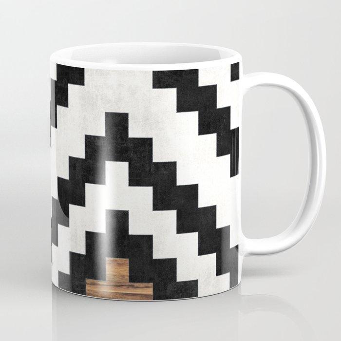 Urban Tribal Pattern No.16 - Aztec - Concrete and Wood Coffee Mug