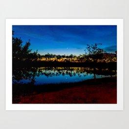 Sunset on the Lake (Landscape) Art Print