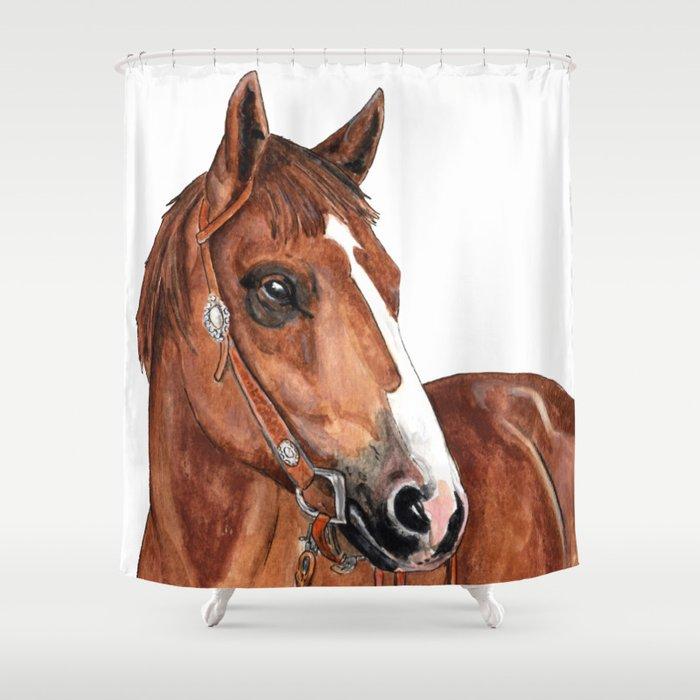 Brown Horse Shower Curtain