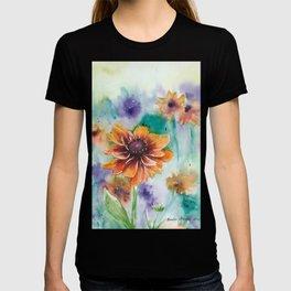 Cherokee Sunset Flower Watercolour painting T-shirt