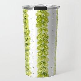 Leaf Pattern in Watercolour Travel Mug