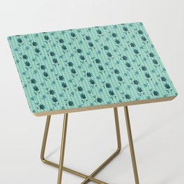 country blue flowers pattern Side Table