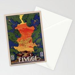 Vintage Italian travel Fiuggi springs Stationery Cards
