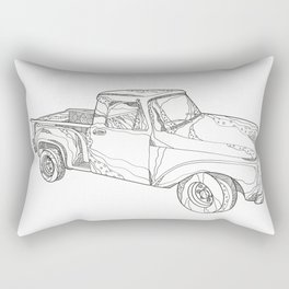 Vintage Pickup Truck Doodle Art Rectangular Pillow