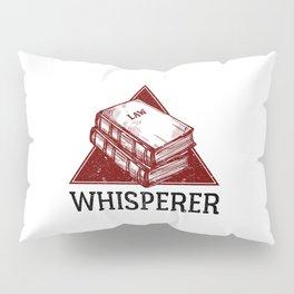 Law Whisperer Lawyer Student Vintage Pillow Sham
