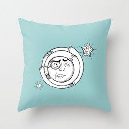 Motor Moon Throw Pillow