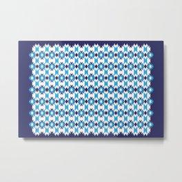 Woven Pattern 4.0 Metal Print