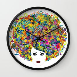 Great Hair Day Wall Clock