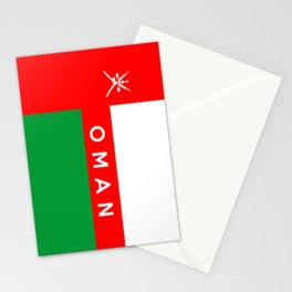flag of Oman Stationery Cards