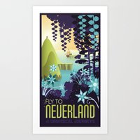 neverland Art Prints featuring Neverland by Mario Graciotti