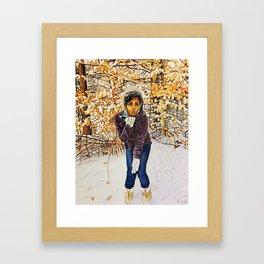 winter kiss Framed Art Print