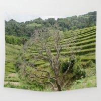 et Wall Tapestries featuring L'arbre et le thé by Sébastien BOUVIER