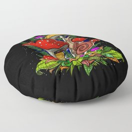 Forest Magic Mushrooms Floor Pillow