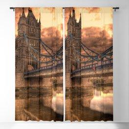 Photo of a gloomy English bridge Blackout Curtain