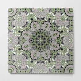 Ethnic ornament . Mandala . India. Metal Print