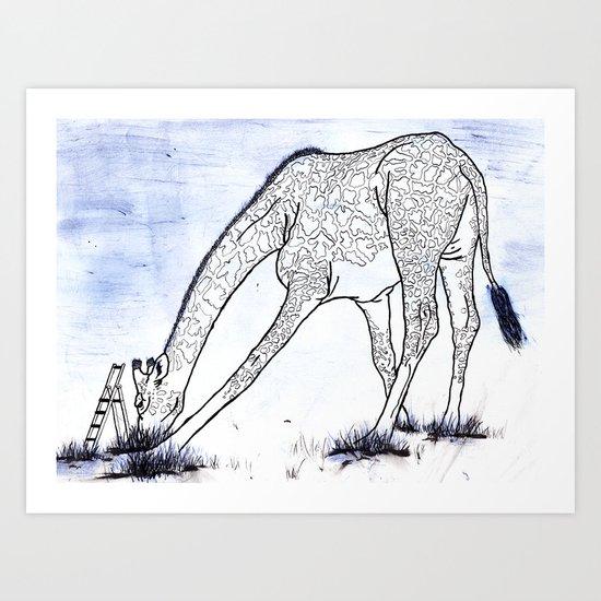 You're tall, just like a Giraffe Art Print