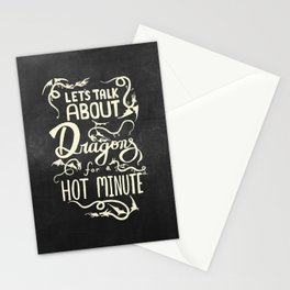 Let's Talk About Dragons Stationery Cards