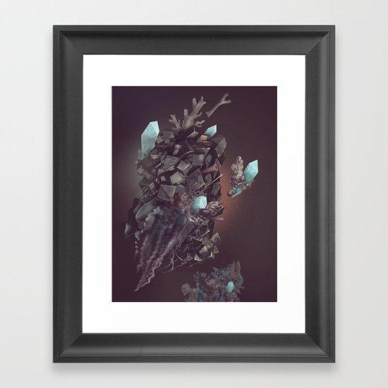 space stone Framed Art Print