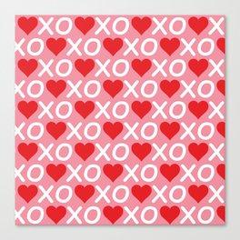 Custom Valentine's Day Pattern Canvas Print