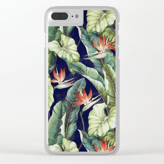 Night tropical garden II Clear iPhone Case