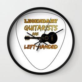 Left-handed Guitar Pick Plectrum Guitarist Lefty Wall Clock