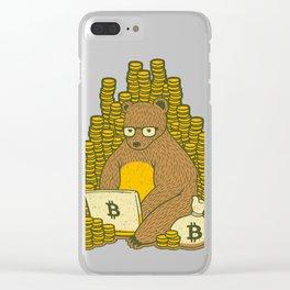 Bitcoin Miner T-shirt Bear Clear iPhone Case