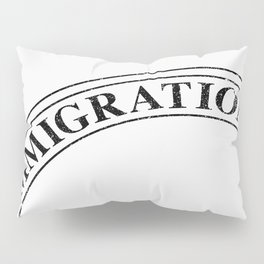 Immigration Stamp Pillow Sham