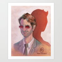 daredevil Art Prints featuring Daredevil by MagzArt