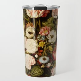 """Osias Beert """"Vase of flowers in a stone niche"""" Travel Mug"""