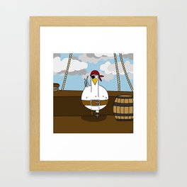 Eglantine la poule (the hen) disguised as a pirate. Framed Art Print