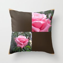 Pink Roses in Anzures 6 Blank Q3F0 Throw Pillow