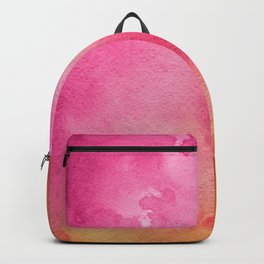 Original Painting In Bright Pink And Orange Backpack